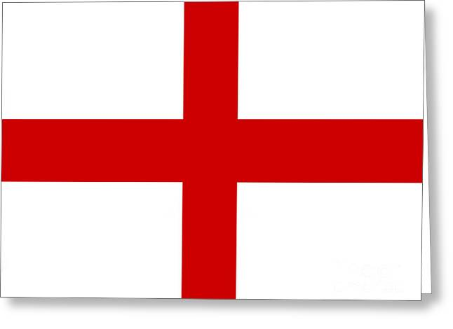 English Flag Greeting Card by Steev Stamford