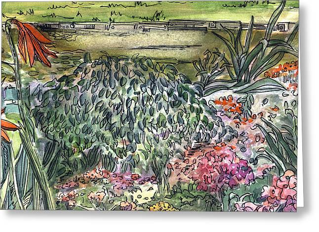 English Garden Greeting Card by Mindy Newman