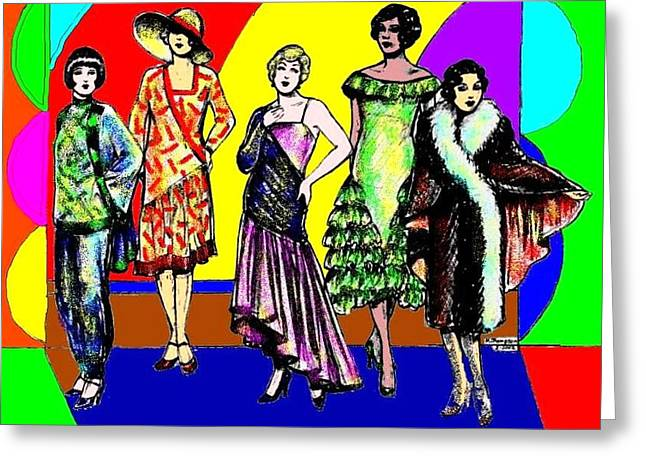 English Models Greeting Card by Mel Thompson