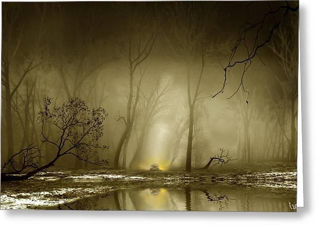 Enigmatic Passage Greeting Card by Igor Zenin