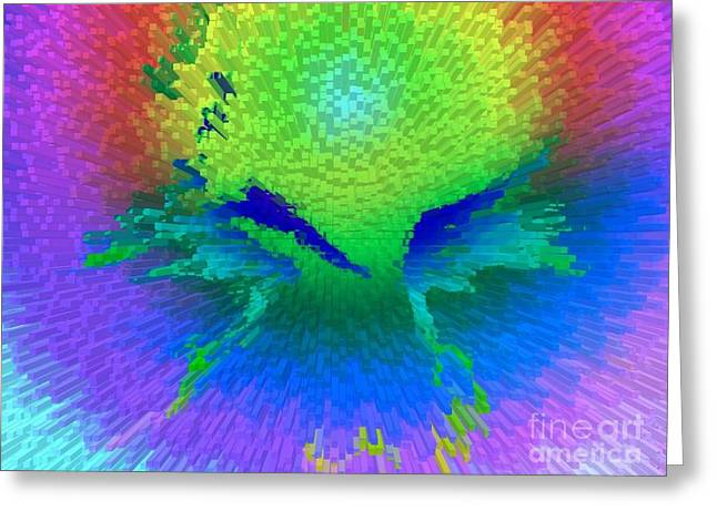 Enlightened Face Greeting Card by Robert Haigh