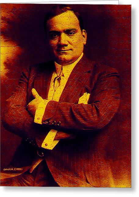Enrico Caruso Greeting Card