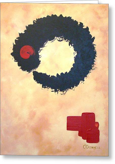 Enso Abstract Greeting Card