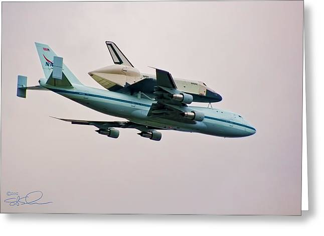 Enterprise 6 Greeting Card by S Paul Sahm