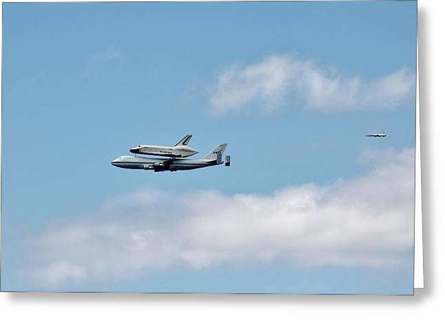 Enterprise Flyby Greeting Card