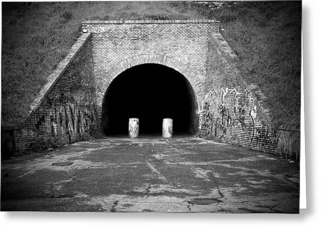 Entrance Of A Tunnel Greeting Card by Fabrizio Troiani
