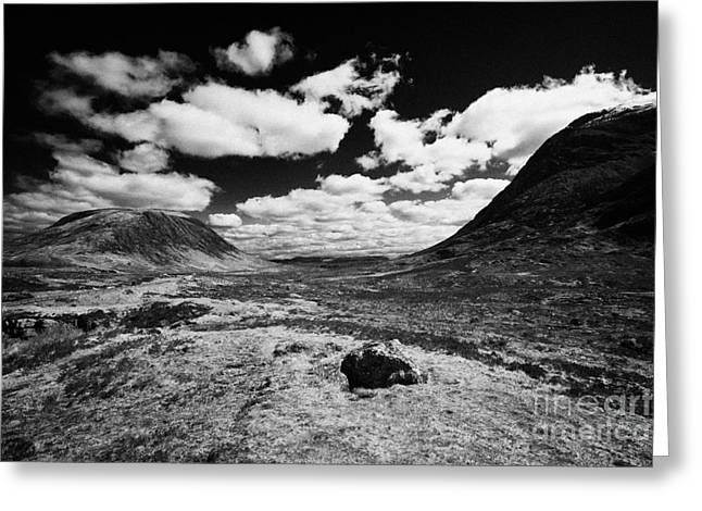 Entrance To Glencoe From Rannoch Moor Highlands Scotland Uk Greeting Card