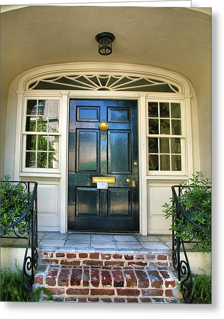 Entrance To Historic House Greeting Card by Steven Ainsworth