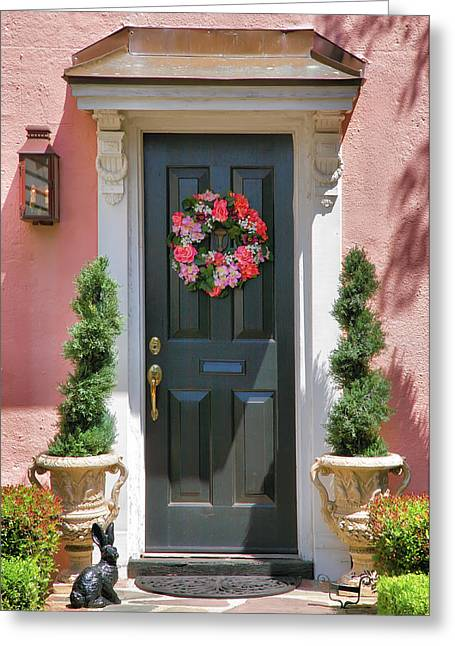 Entrance To Pink House Greeting Card