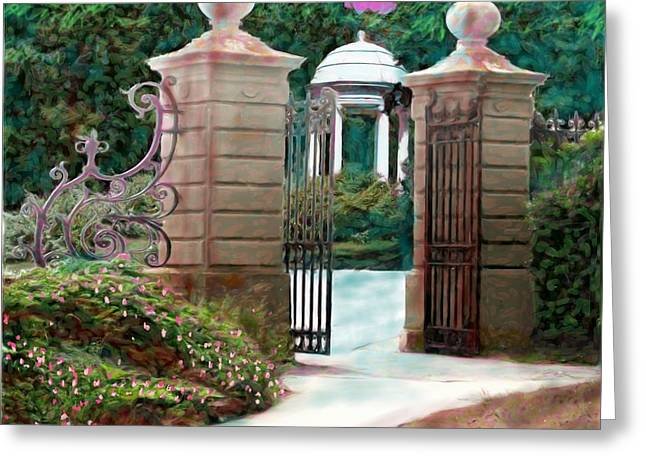 Entrance To The Garden Greeting Card by Earl Jackson