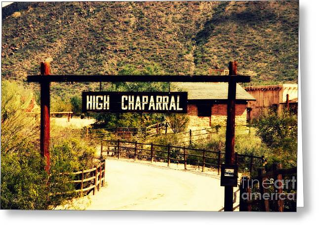 Entrance To The High Chaparral Ranch Greeting Card by Susanne Van Hulst