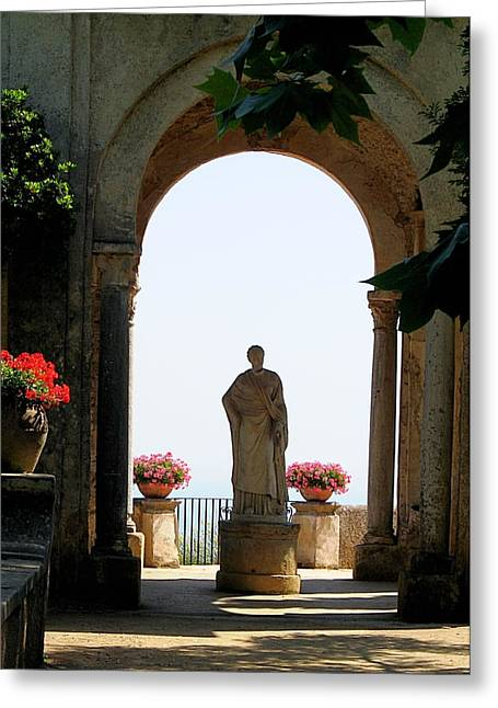 Greeting Card featuring the photograph Entrance To The Terrace Of The Infinity by Vikki Bouffard