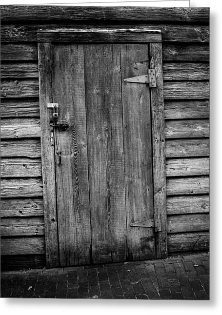 Portrait Of Old Door Greeting Card by Vintage Pix