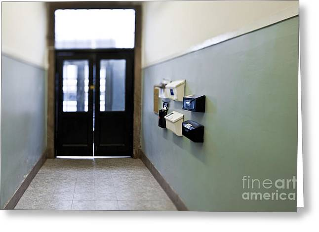 Entryway With Post Boxes Greeting Card by Eddy Joaquim