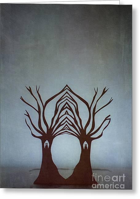 Entwined Greeting Card by Catherine MacBride