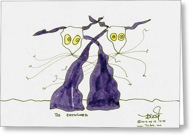 Entwined Greeting Card by Tis Art
