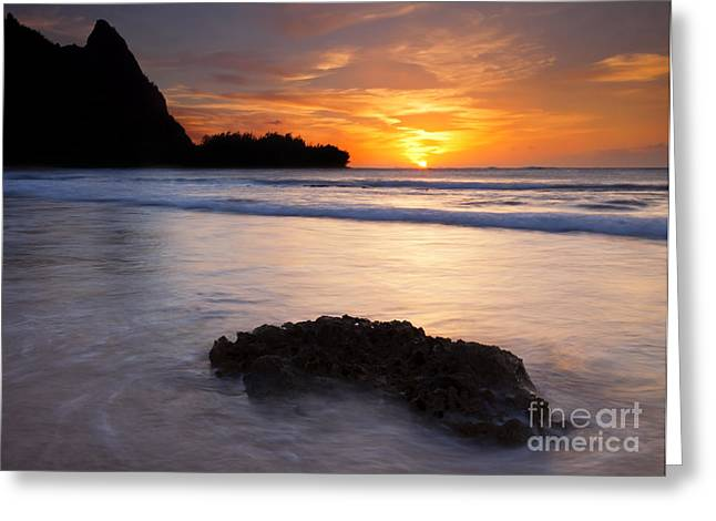 Enveloped By The Tides Greeting Card by Mike  Dawson