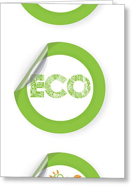 Environmental Sticker Design Greeting Card by HD Connelly