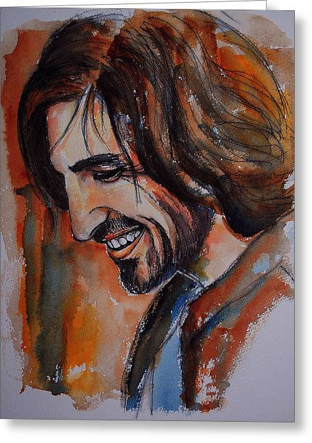 Eoin Macken Greeting Card by Francoise Dugourd-Caput
