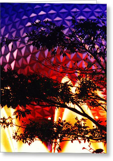 Greeting Card featuring the photograph Epcot Dream by Mike Flynn