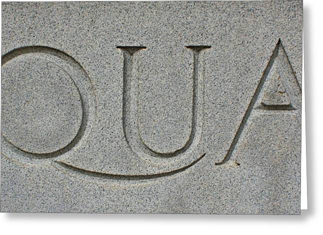 Equal In Stone Greeting Card by Geoff Strehlow