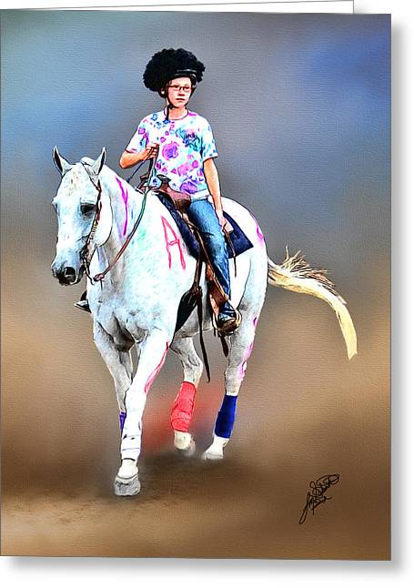 Equestrian Competition II Greeting Card by Tom Schmidt