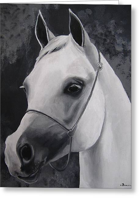 Equestrian Silver Greeting Card by Kayleigh Semeniuk