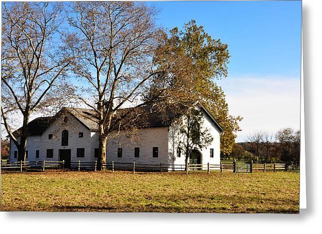 Equestrian Stable Erdenheim Farm Greeting Card by Bill Cannon