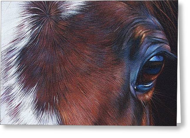 Equine 1 Greeting Card by Elena Kolotusha