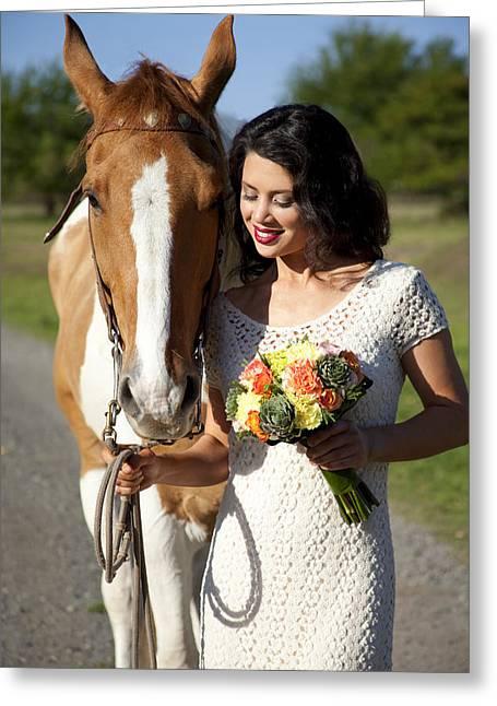 Equine Companion Greeting Card by Sri Maiava Rusden