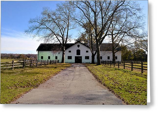 Erdenheim Farm Equestrian Stable Greeting Card by Bill Cannon