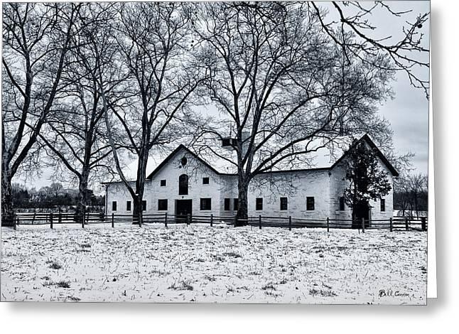 Erdenheim Farm In The Snow Greeting Card by Bill Cannon