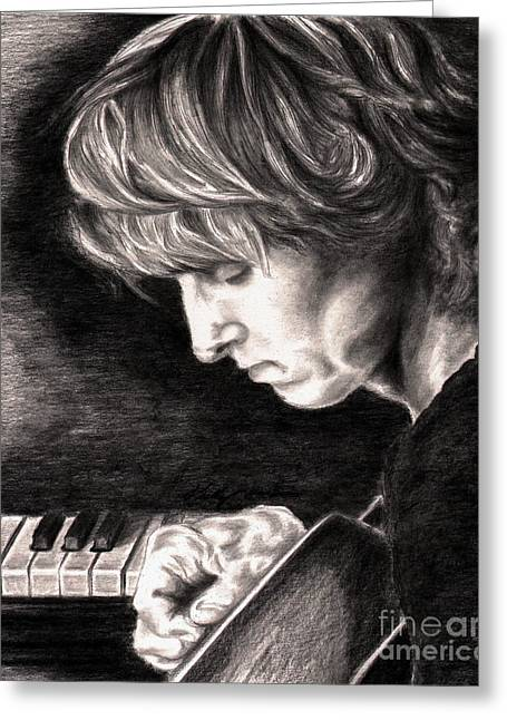 Eric Johnson Greeting Card by Kathleen Kelly Thompson