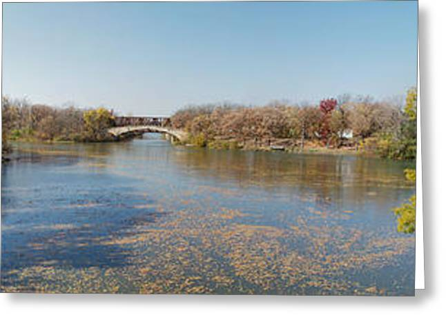 Greeting Card featuring the photograph Erie Canal Panorama by William Norton