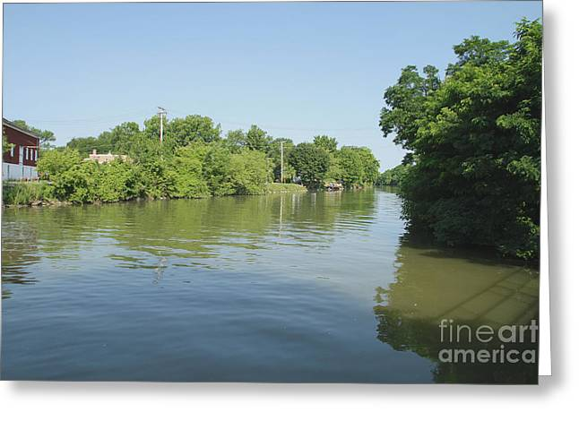 Greeting Card featuring the photograph Erie Canal by William Norton