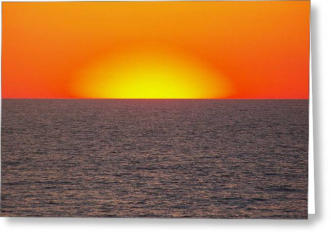 Erie Sun Burst Greeting Card by Natalie Long