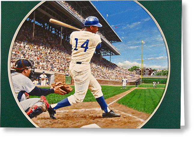 Ernie Banks Greeting Card