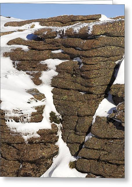 Eroded Granite Greeting Card by Duncan Shaw
