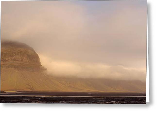 Eroded Mountain Greeting Card by Chris Madeley