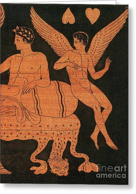 Eros, Greek God Of Love Greeting Card by Photo Researchers