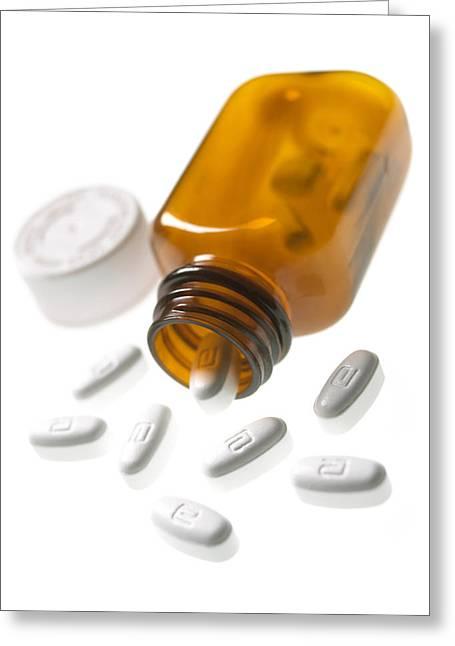 Erythromycin Antibiotic Pills Greeting Card