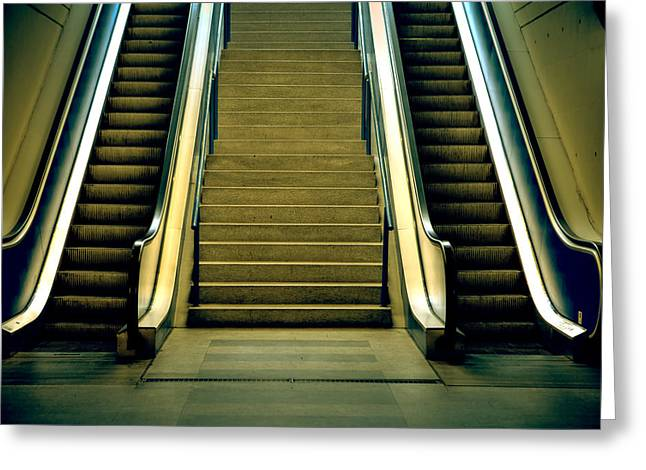 Escalators And Stairs Greeting Card by Joana Kruse