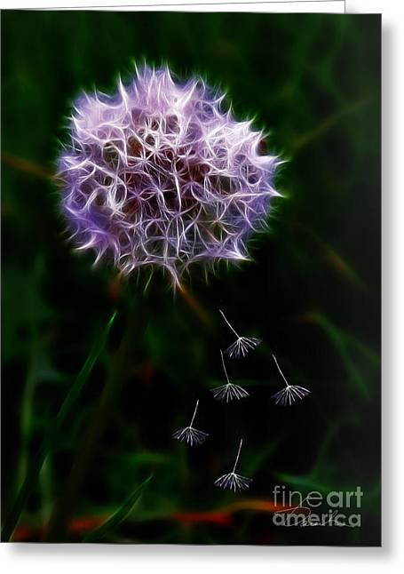 Escape From Wholeness Greeting Card by Danuta Bennett