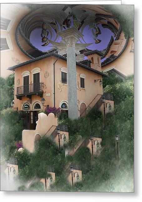 Escher's Dream Greeting Card by Nina Fosdick