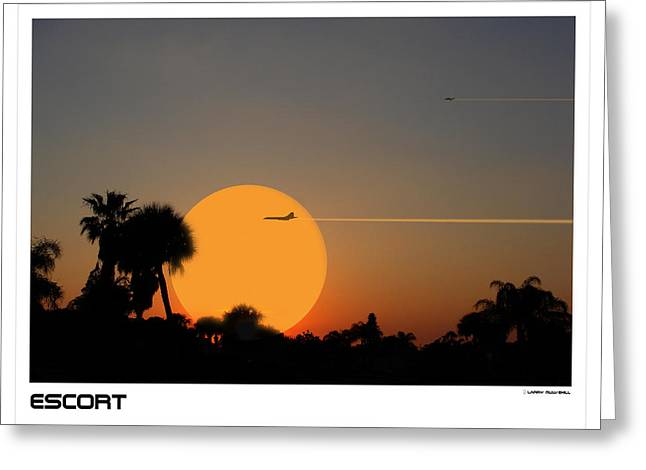 Escort Greeting Card by Larry Mulvehill
