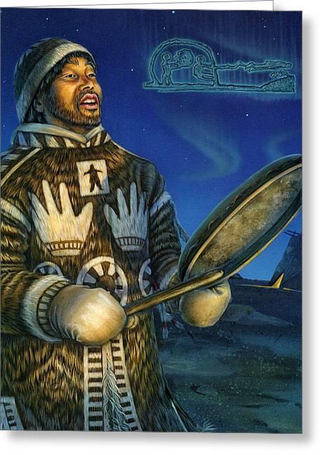 Eskimo Shaman Greeting Card