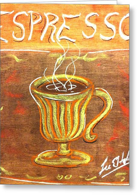 Espresso Greeting Card by Lee Halbrook