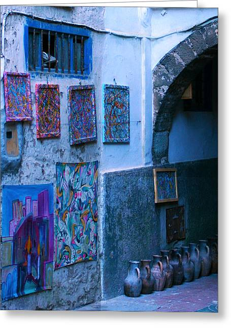 Essaouira Blue Moroccan Greeting Card