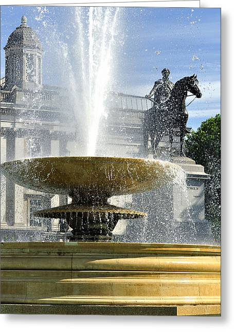 Essential Elements Of Trafalgar Square Greeting Card by Vicki Jauron