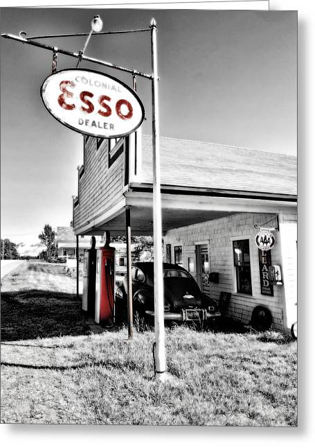 Esso Express Greeting Card by Chad Tracy
